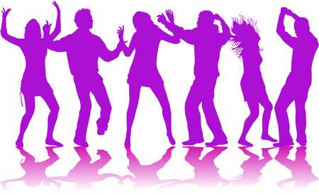 dancing peopl - color Stock Vector - 7235234