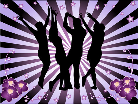 Disco time, Background magenta Stock Vector - 7235250