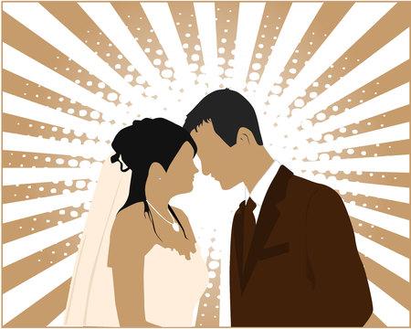 plight: Married Couple -   illustration Illustration