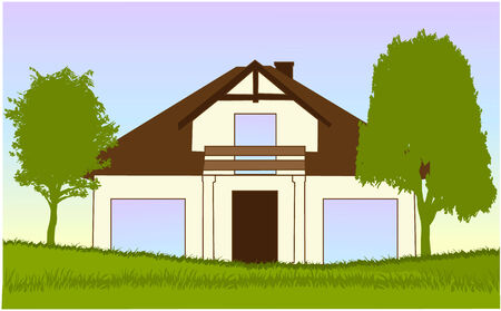 new house illustration Vector