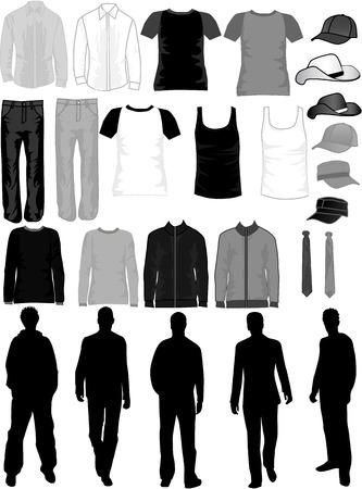 Hombres Dress Collection  Ilustración de vector