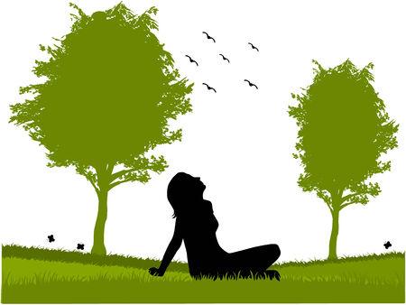 Dreamer in nature Illustration