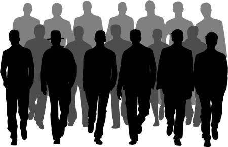 groep mannen Stock Illustratie