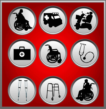 crippled: Medical Icons