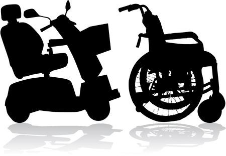 crippled: wheelchair Illustration
