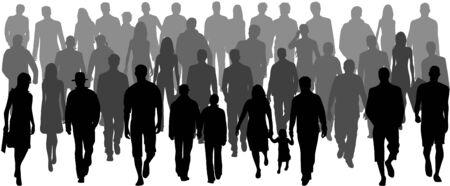 People crowd, vectors work- illustration Vector