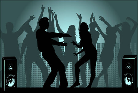 party people silhouette  Illustration