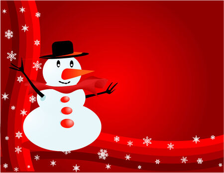 Snowman - Visiting-card  Vector