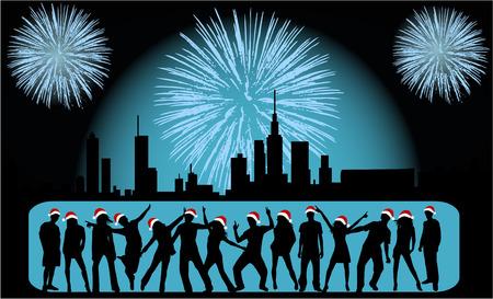 Vector Illustration - City Celebration People Stock Vector - 8349645