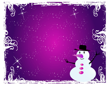 hat new year s eve: Snowman - Visiting-card  2 Illustration
