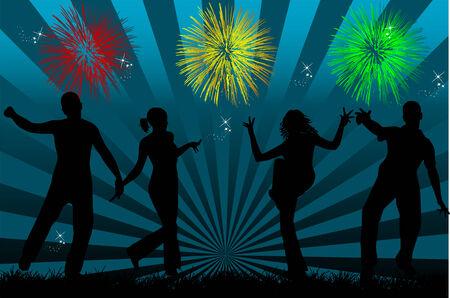 january 1st: Night Party Illustration