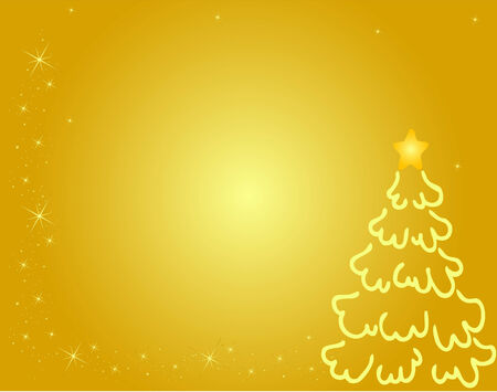 Christmas tree background, vector Vector