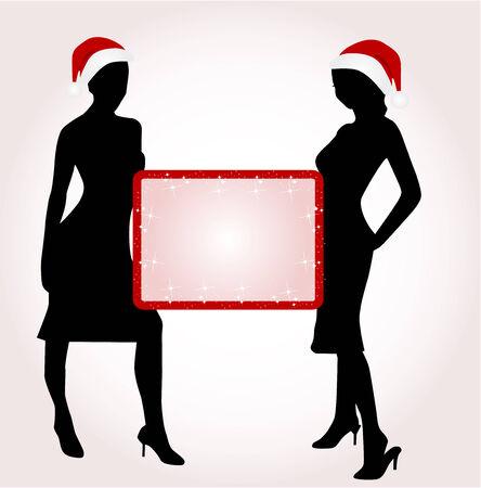 Christmas girls Ilustrace