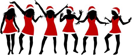bailarin hombre: Niñas de Navidad