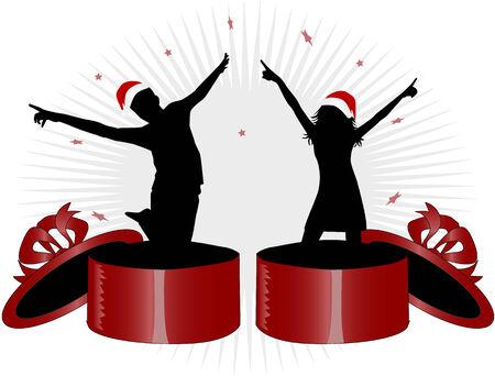 ragazze che ballano: Babbo Natale