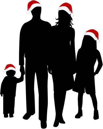 Christmas Family Stock Vector - 8349663