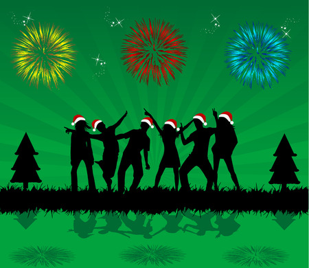Christmas  Celebration,  illustration Vector