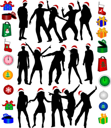 christmas elements and icons Vector