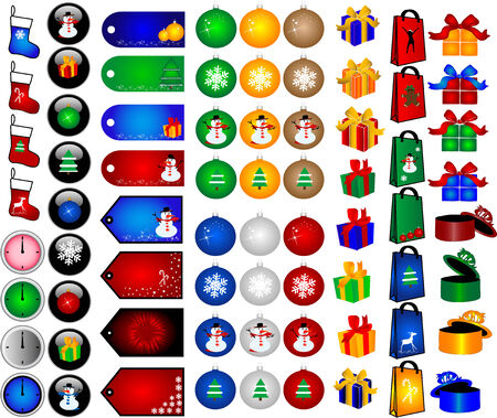 Christmas Decorations -big collection Vector