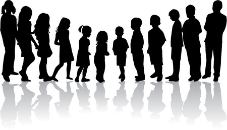 smallest: from the smallest to the largest child-silhouettes