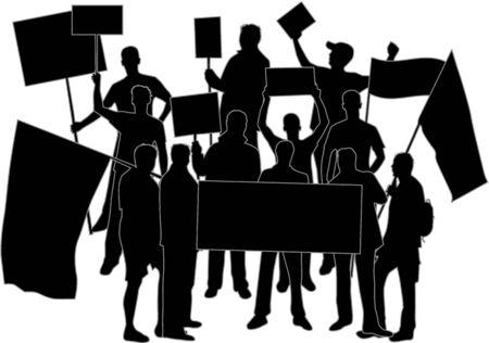 manifestacion: manifestaci�n - un grupo de personas que protestaban