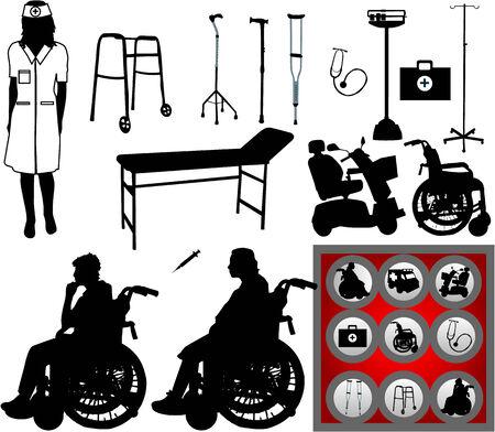 Große Sammlung von Symbolen der Medizin Standard-Bild - 8666306