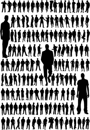 very large collection of the best profiles a male Vector