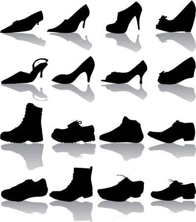 boots (man , women)  Vector