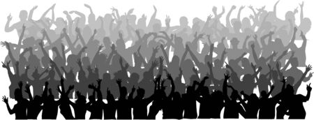 large crowd of dancing people Stock Vector - 8666308