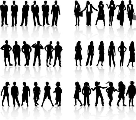conceptual collection silhouettes - work Vector