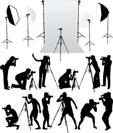 establishment: photo accessories - studio equipment, working with vectors
