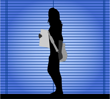 girl silhouette Stock Vector - 8666530
