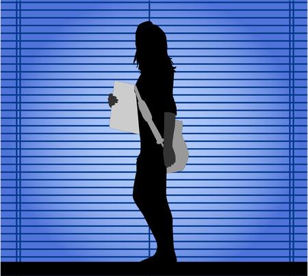 girl silhouette Stock Vector - 8666530