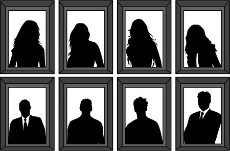 portraits of people - silhouettes framed