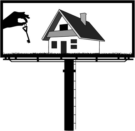 obtain: billboard - sell turnkey houses Illustration