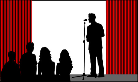 stage performer: Speech