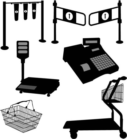 Equipment store-accessories Ilustracja