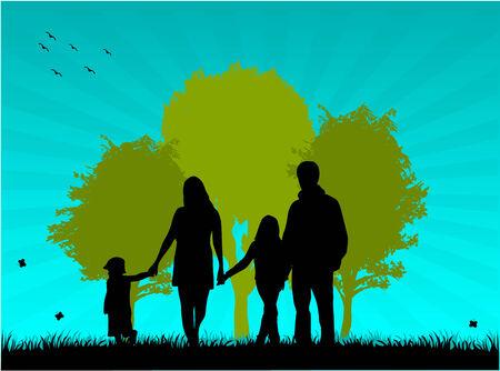 Foto de la familia de paseo Foto de archivo - 8666610