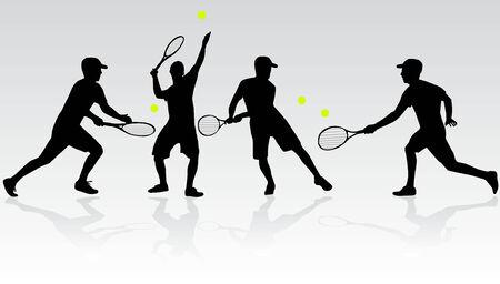 Tennisser  Stock Illustratie