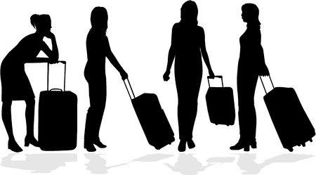 Meisje met koffer
