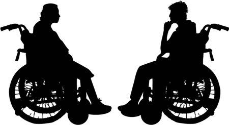 accident woman: discapacitados en silla de ruedas Vectores