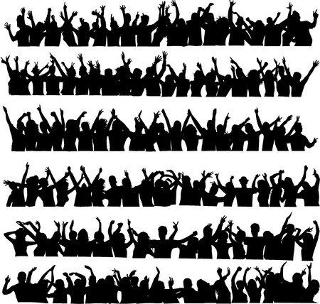 large crowd of dancing people Vector