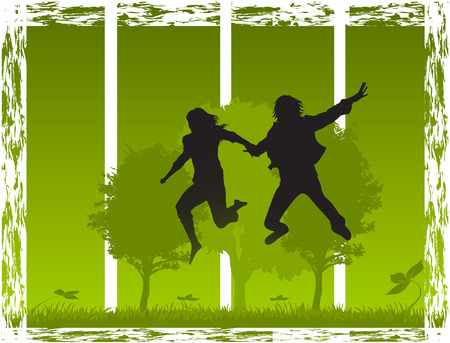 jump in nature Vector