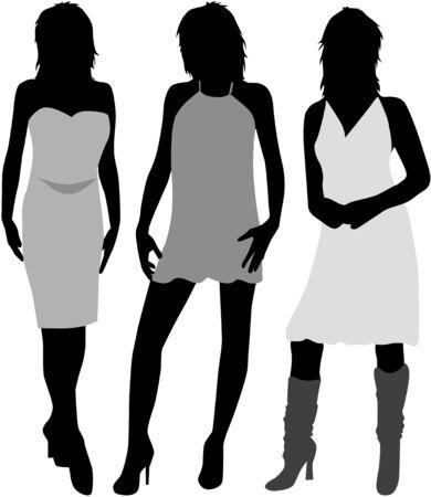 tall woman: three women