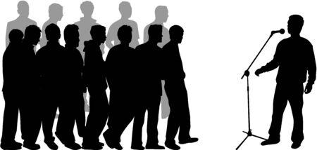 public speaker: speech-profiles of people Illustration