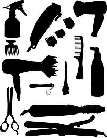 hairdressing tools Stock Vector - 8741399