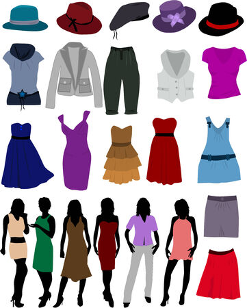 shoping: clothes for women Illustration