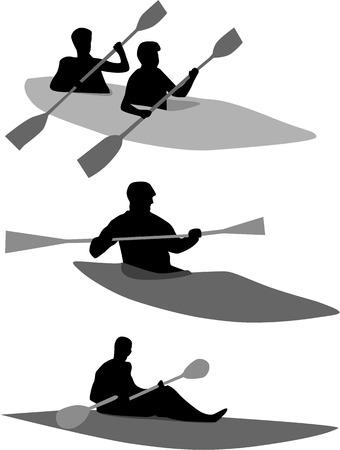 Kayak Stock Vector - 8741394