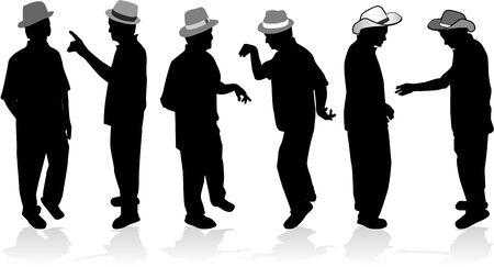 heren in hoeden