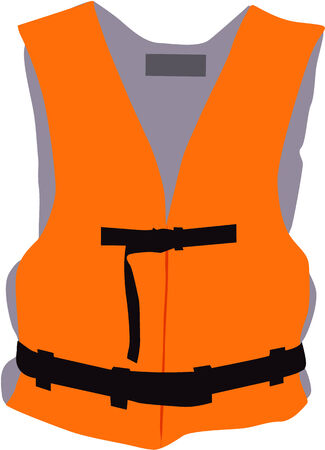 reflection of life: life jacket - vector